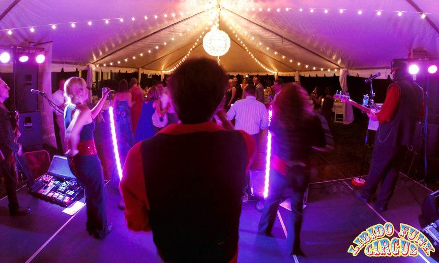 lfc wedding action shot