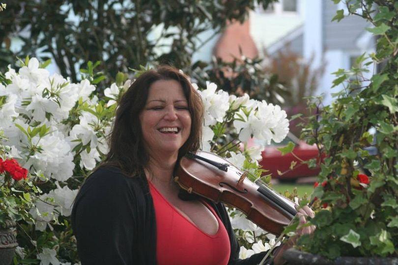 Violins in the garden