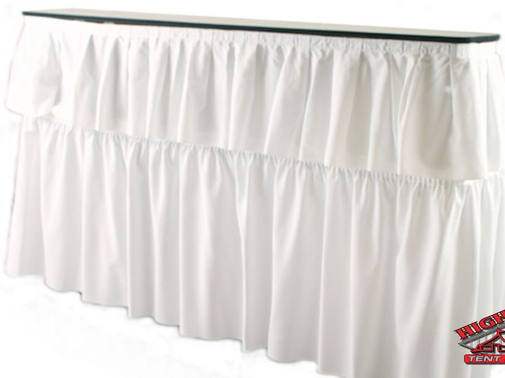 Tmx 1456198053200 6 Ft White Bar With Skirt Final Carlisle, PA wedding rental