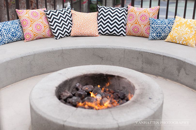 Get cozy around the fire pit!