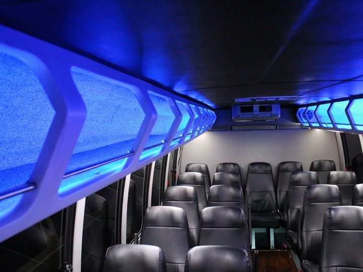 Tmx 1497061363071 Mini Bus Interior Overhead Storage Dallas, Texas wedding transportation