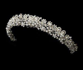 Pearl & Crystal Bridal Headband Tiara