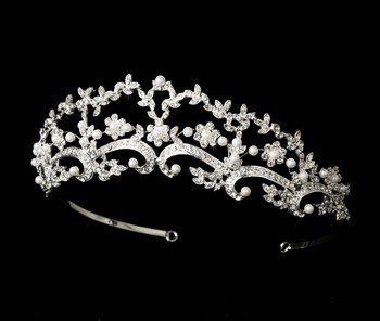Silver & White Pearl Tiara