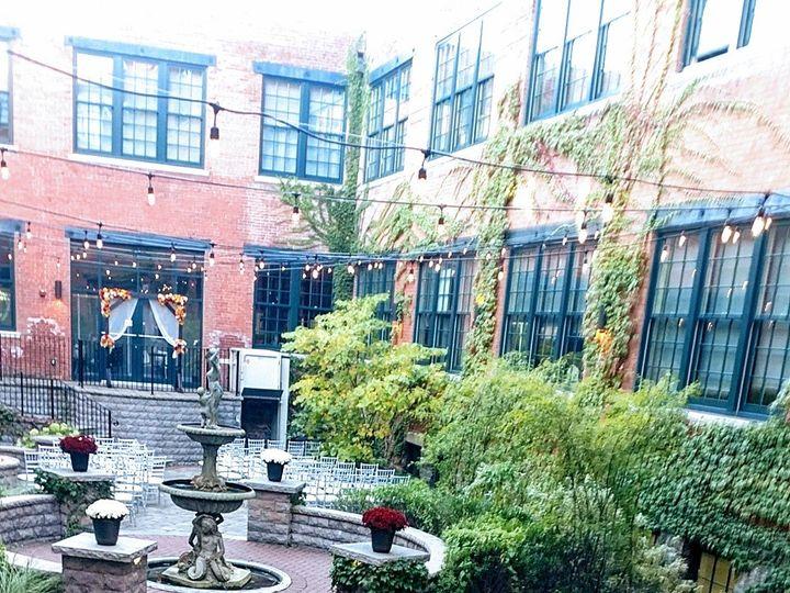 Tmx Courtyard Fall Ceremony Foundry 51 747000 Buffalo, NY wedding venue