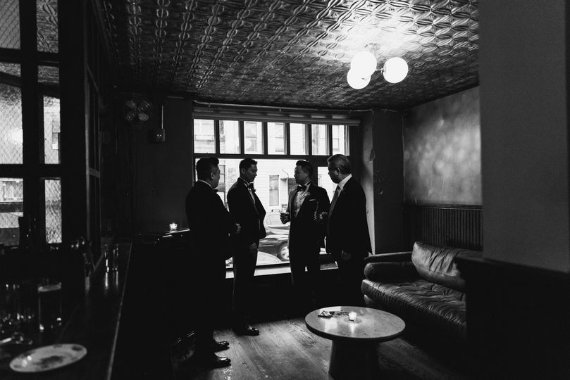 Groomsmen in the Portrait Room