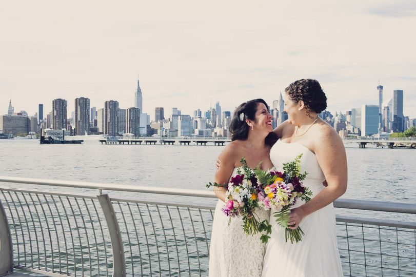 Two Brides, Two Bouquets