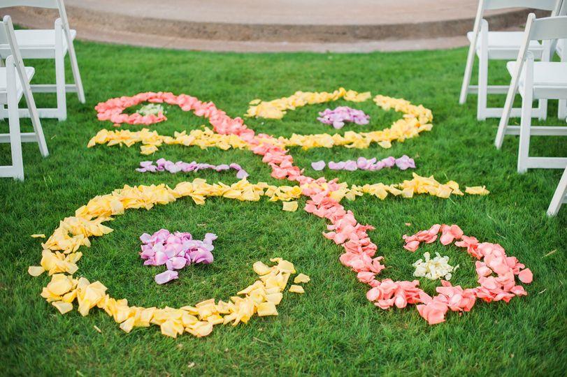 Yellow and pink petals