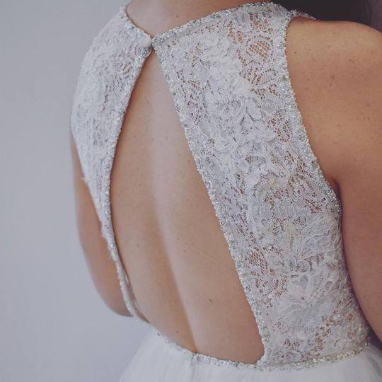 Eye-catching back of dress