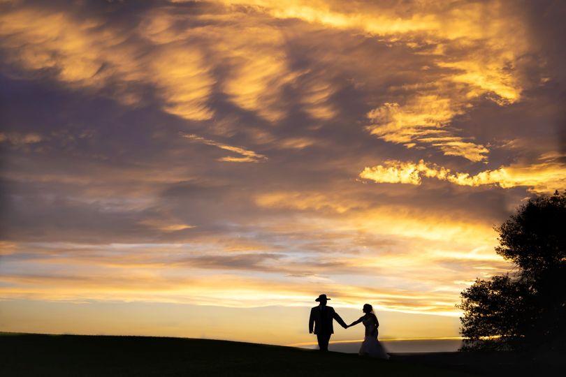 albuquerque wedding bride groom sunset silhouette unm golf course 51 953100