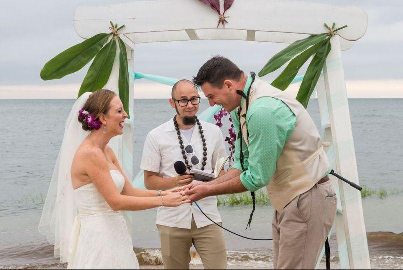 cape cod beach wedding bride and groom ceremony 51 953100