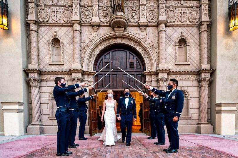 Masked Up Covid wedding 2020