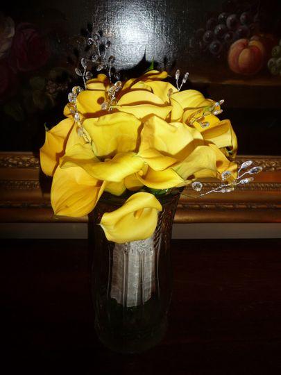 DIY Bridal Calla Lilly Bouquet