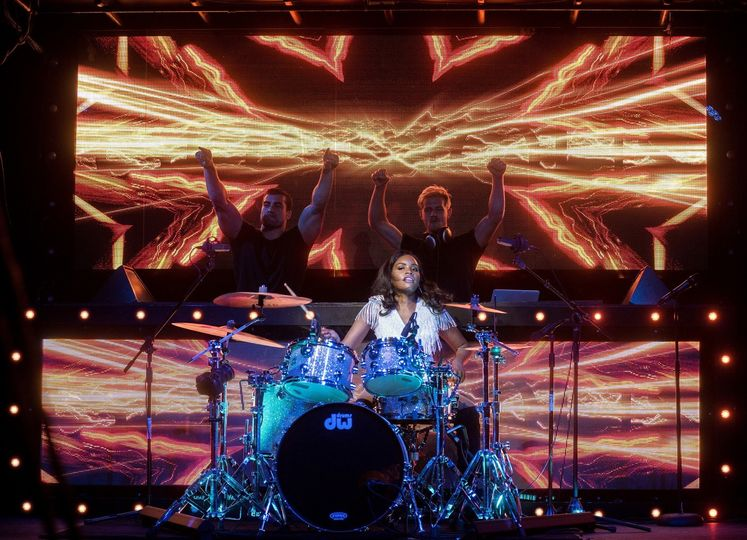 On the drums