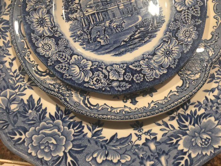 Classy Blue and White vintage china rental