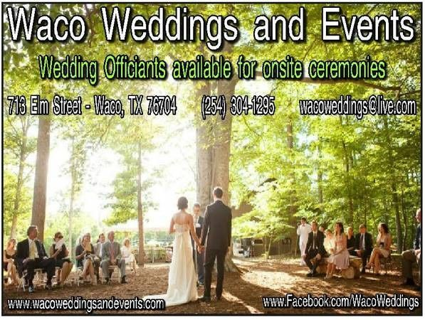 Wedding Officiant services available (Waco Weddings and Events)
