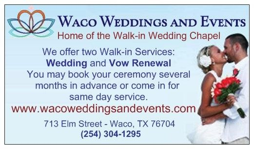 Available for weddings and vow renewals (Waco Weddings and Events)