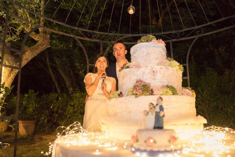 Wonderful wedding cake