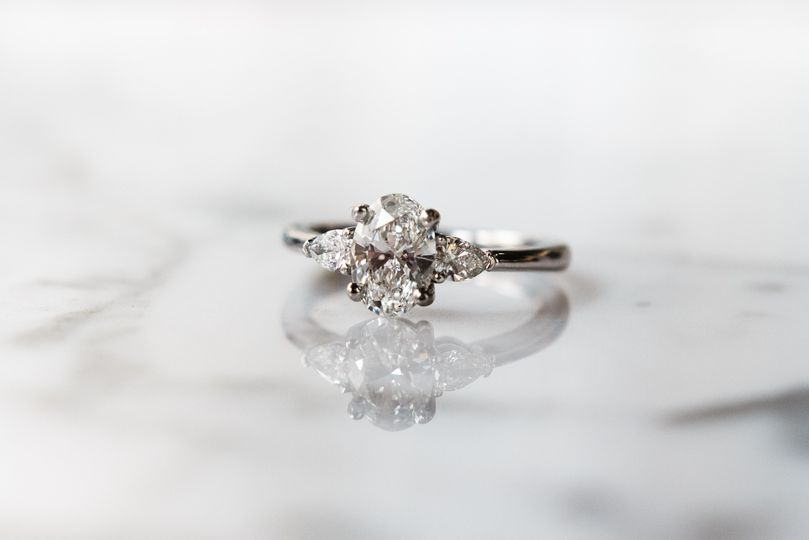 Oval and pear ring