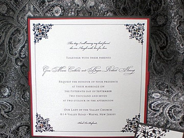 Tmx 1295999850900 Ginalow Plainfield, New Jersey wedding invitation