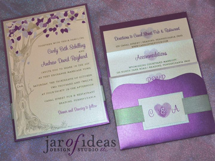 Tmx 1371766980347 Carlyinviteset Plainfield, New Jersey wedding invitation