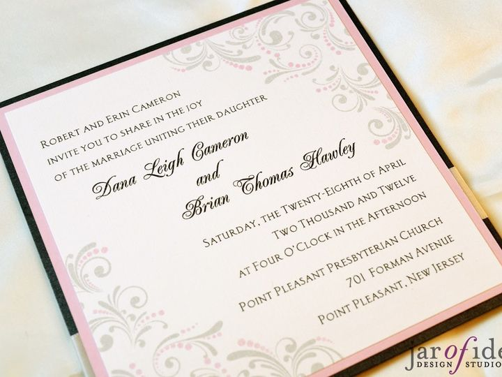 Tmx 1371767212589 Dcfrontlow Plainfield, New Jersey wedding invitation