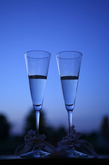 Champagne Flutes on Terrace