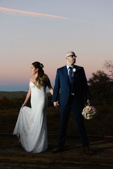 Wedding at Calico Basin, Red Rock Canyon.
