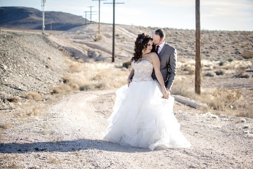 Courtney and Seth in the Mohave Desert.
