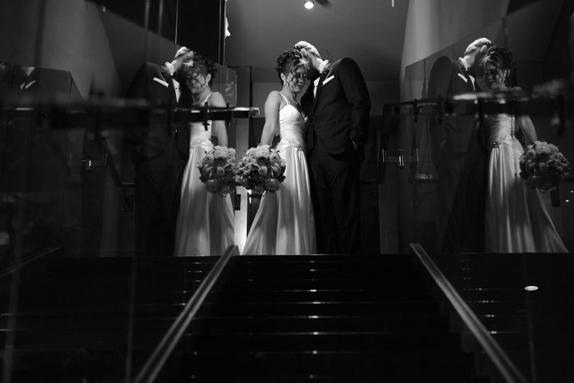 Reflections of Jenny and Norman at the Mandarin Oriental, Las Vegas