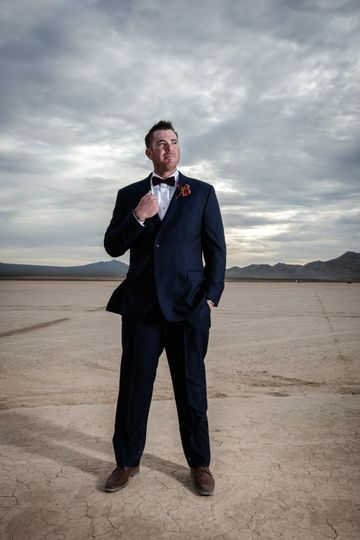 Groom on the Dry Lake Bed