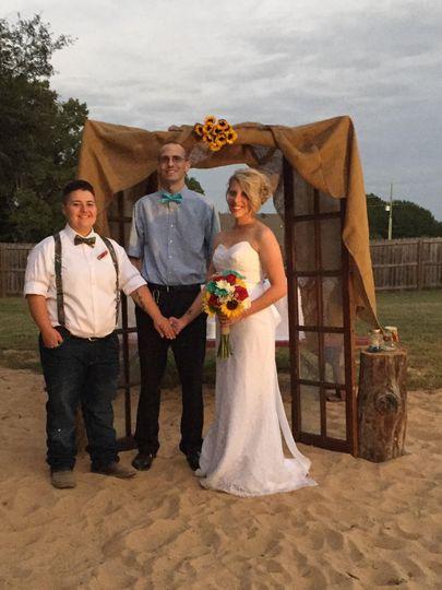 It was an honor to marry Tara and Jade on 26 September 2015 in Lonoke, Arkansas!