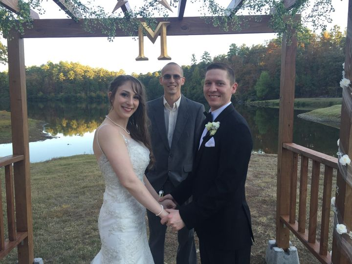 October 10th, 2015 - today I was blessed to marry Jacob and Jillian in Little Rock, Arkansas!