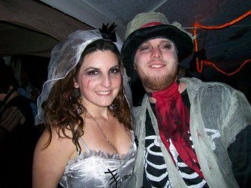 Lindsay & Kevin surprised their Halloween party guests with their marriage