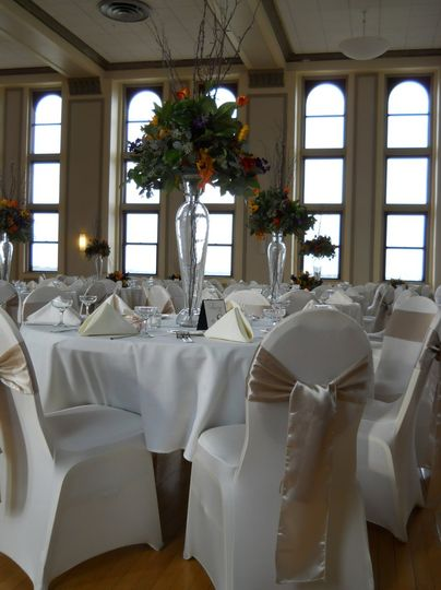 Gold ribbon chairs
