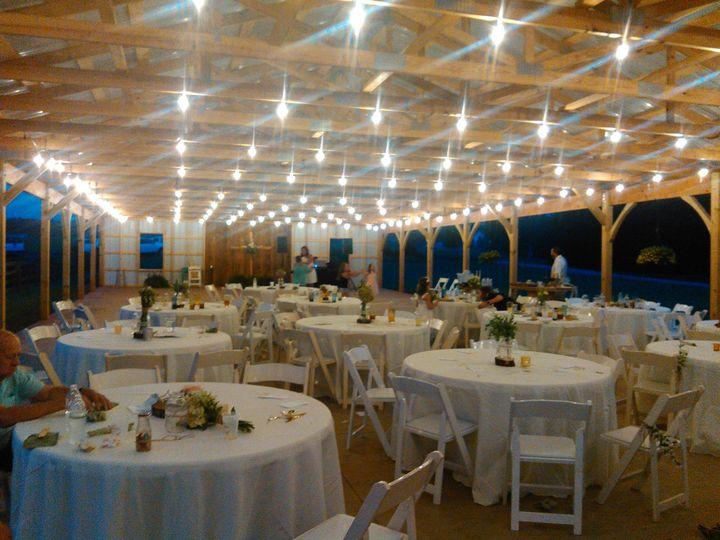 Under the pavilion lights