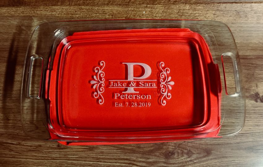 Custom Personalized Pyrex Dish