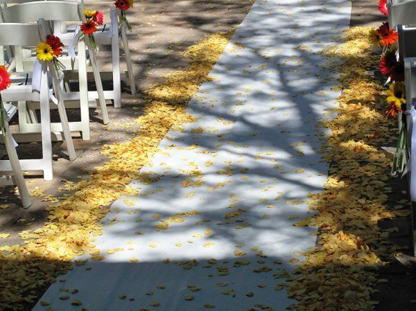Wedding Petals custom blended for Andy &  Jen's Aisle from Flyboy Naturals Rose Petals.