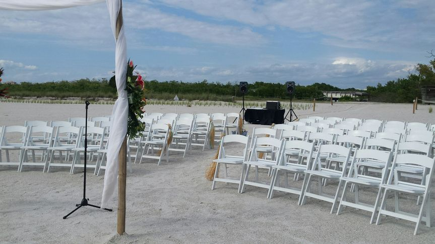 Ceremony setup at Lovers Key FT Myers FL