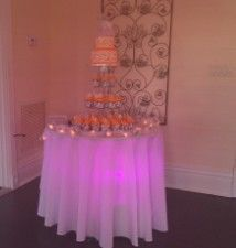 Cake Table Up LightsWhite Orchard at the OasisFT Myers FL