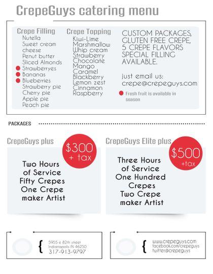 crepeguys catering menu