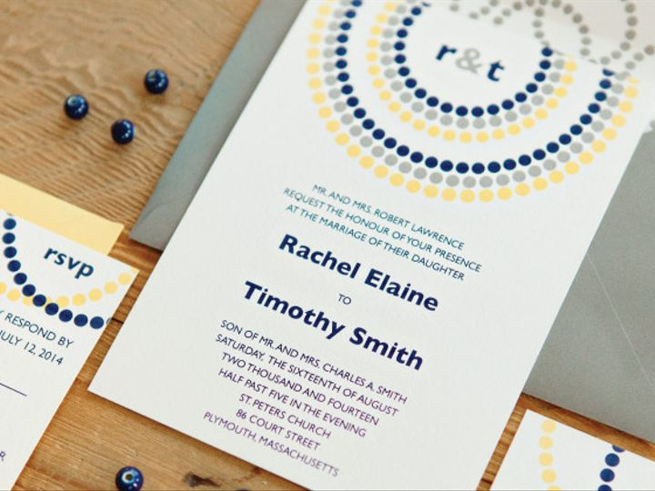 Tmx 1399594523554 Circles Plymouth wedding invitation