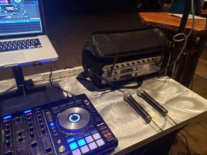 DJ audio setup