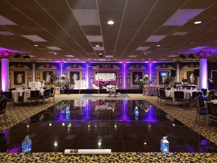 The dance floor is ready