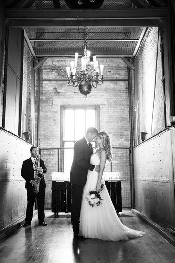 Elevator Sax and Couple