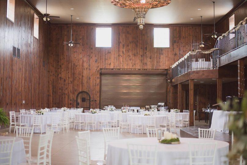 Indoor banquet setup