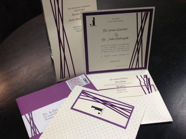 Lorena + Justing wanted an invitation package that would echo their modern, formal, clean aesthetic.