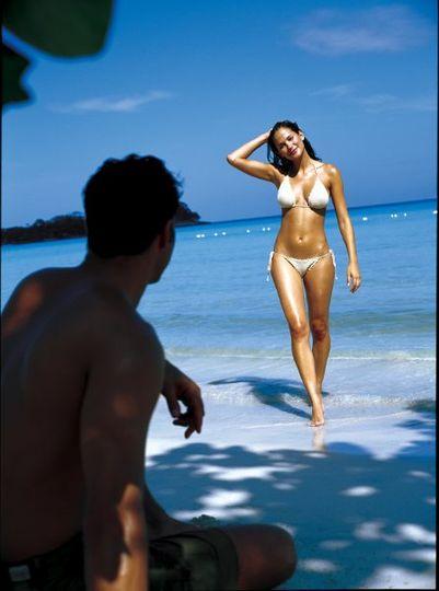 Honeymoon Couple on Beach