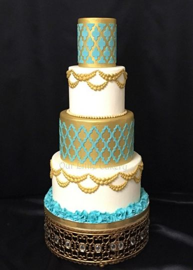 00moroccoan gold teal cake