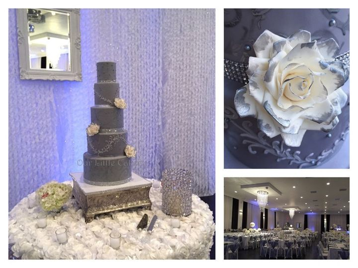 Tmx 1415809791641 0ashley Grey Wedding Fresno wedding cake