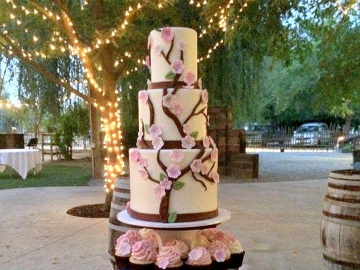 Tmx 1415809822219 0cherry Blossom Fresno wedding cake